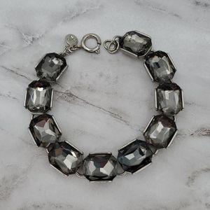 LOFT Smoky Gray Rhinestone Bracelet